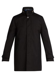Paul Smith High Neck Gilet Lined Wool Peacoat Black