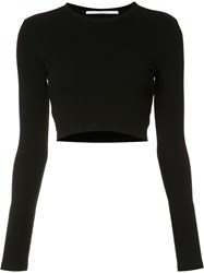 Rosetta Getty Cropped Blouse Black
