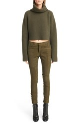 Women's Haider Ackermann Crop Wool Turtleneck Sweater