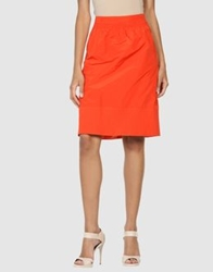 Piazza Sempione Knee Length Skirts Rust