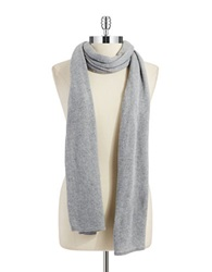 Lord And Taylor Siena Oversized Knit Scarf Grey