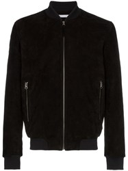 Lot 78 Lot78 Suede Bomber Jacket Black