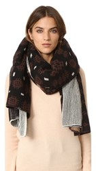 Standard Form Oversized Inga Plaid Scarf Black