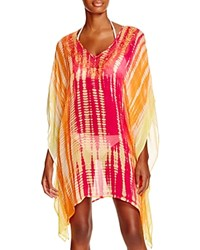 Trina Turk Tie Dye Tunic Swim Cover Up Fuchsia