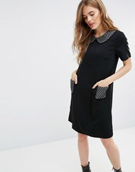 Traffic People Miss Marple Polly Dress With Metallic Trims Black