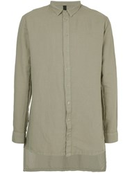 First Aid To The Injured Nervi Shirt Cotton Ramie Grey