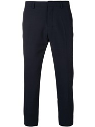 Ami Alexandre Mattiussi Cropped Fit Trousers Blue