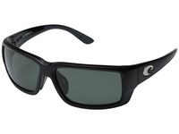 Costa Fantail Global Fit Black Gray 580 Glass Lens Fashion Sunglasses