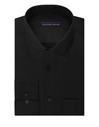 Geoffrey Beene Sateen Regular Fit Dress Shirt Black