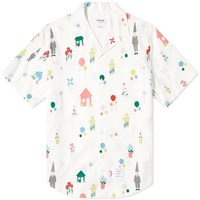 Thom Browne All Over Gnome Print Vacation Shirt White
