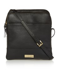 Dickins And Jones Kingsway Large Double Zip Crossbody Handbag Black