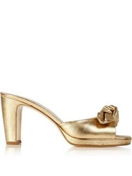 Hobbs Ophelia Bow Detail Mules Gold
