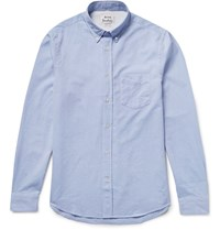 Acne Studios Isherwood Slim Fit Button Down Collar Cotton Oxford Shirt Blue