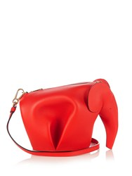 Loewe Elephant Mini Leather Cross Body Bag Red