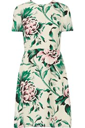 Burberry Printed Silk Georgette Dress Green