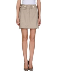 Pianurastudio Mini Skirts Sand