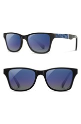Shwood 'Canby' 53Mm Polarized Sunglasses Black Surf Resin Blue Black Surf Resin Blue