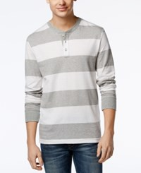 Club Room Men's Waverly Striped Henley Only At Macy's Bright White