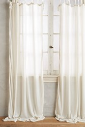 Anthropologie Cotton Tie Top Curtain Ivory
