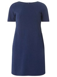 Dorothy Perkins Billie And Blossom Petite Jacquard Shift Dress Blue