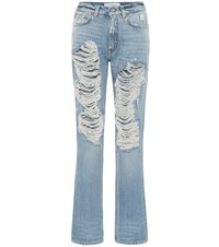 Givenchy High Rise Straight Jeans Blue