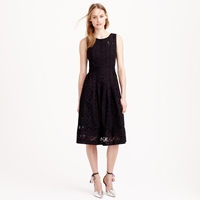 J.Crew Collection Pleated Eyelet Dress