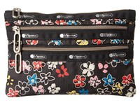 Le Sport Sac Classic 3 Zip Pouch Flower Burst Wallet White