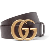 Gucci 4Cm Dark Brown Full Grain Leather Belt Brown