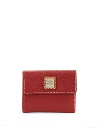 Dooney And Bourke Small Leather Card Wallet Wine