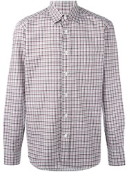 Brioni Checked Shirt Red