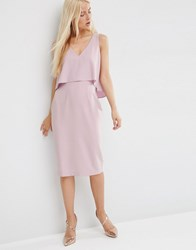 Asos Double Layer Pencil Dress Lilac Purple
