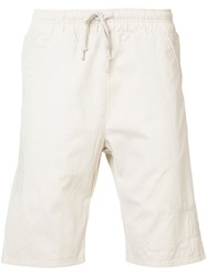John Elliott Embroidered Shorts Nude Neutrals