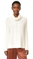 Tse Cashmere Long Sleeve Poncho Sweater Creme