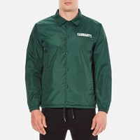 Carhartt Men's College Coach Jacket Tafetta Conifer