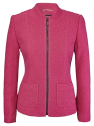 Viyella Boiled Wool Jacket Bubblegum