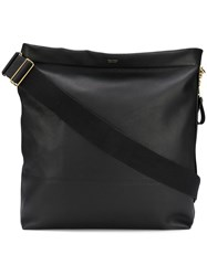 Tom Ford Logo Large Shoulder Bag Black