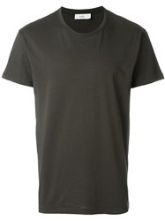 Closed Round Neck T Shirt Green