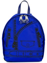 Moschino Trompe L'ail Backpack Blue