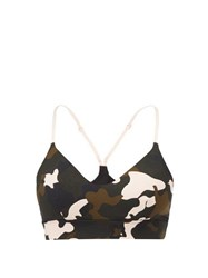 The Upside Zoe Camouflage Print Sports Bra Multi