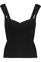 Herve Leger Cropped Bandage Top Black