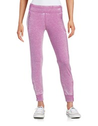 Kensie Distressed Jogger Pants Purple