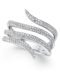 Macy's Diamond Snake Wrap Ring 1 2 Ct. T.W. In Sterling Silver