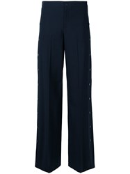 Red Valentino Side Stud Trousers Blue