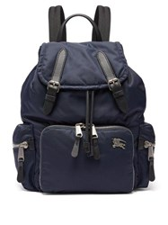 Burberry Equestrian Knight Plaque Padded Backpack Navy