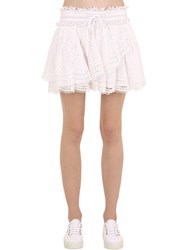 Zadig And Voltaire Embroidered Cotton Skirt White