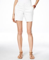 Inc International Concepts Curvy Fit Shorts Only At Macy's Bright White