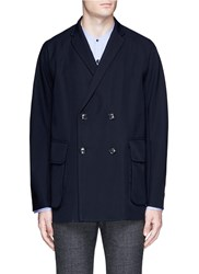 Kolor Double Breasted Wool Coat Blue