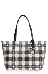 Kate Spade New York 'Hawthorne Lane Ryan' Coated Canvas Tote Grey Light Shale
