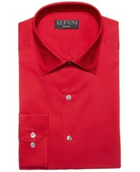 Alfani Alfatech By Solid Classic Regular Fit Dress Shirt Created For Macy's Red