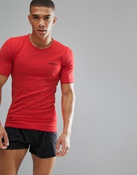 Craft Sportswear Active Comfort Running Knitted T Shirt Top In Red 1903792 2566 Red